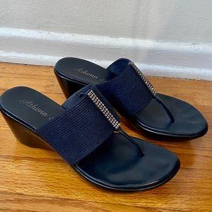 Athena Alexander Rosalie Slip-On Wedge Sandals